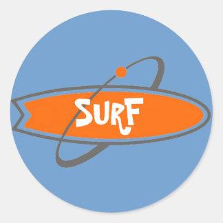 SURF KLEVERIG RONDE STICKER