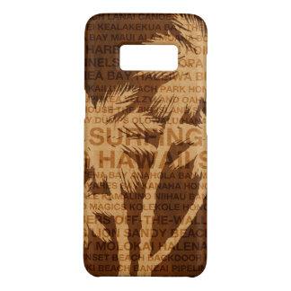 Surfend Tropische het Hout van Faux van de Palmen Case-Mate Samsung Galaxy S8 Hoesje
