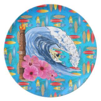 Surfer en Standbeeld Tiki Bord