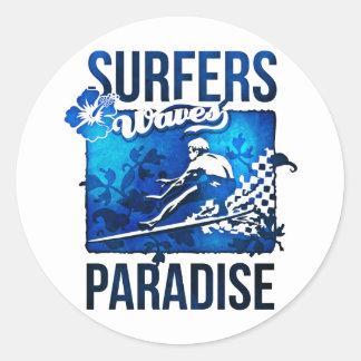 surfers paradijs ronde sticker
