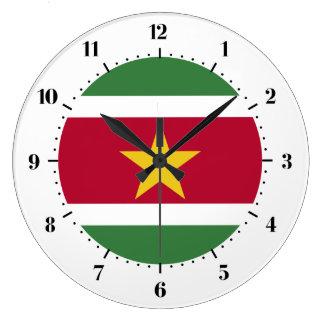 Surinaamse vlag ronde klok large