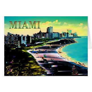 Surreal Kleuren van het Strand Florida van Miami Briefkaarten 0