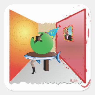 Surreal Kleurrijk, Bizar en Artistieke Partij - Vierkante Sticker