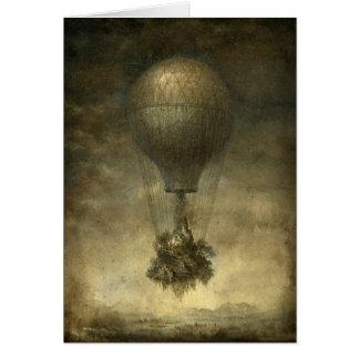 Surreal Wenskaart van de Ballon van de Hete Lucht