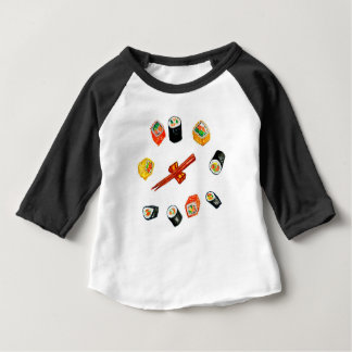 Sushi Vastgestelde Watercolor2 Baby T Shirts
