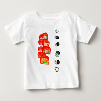 Sushi Vastgestelde Watercolor3 Baby T Shirts