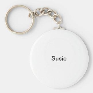 Susie Basic Ronde Button Sleutelhanger