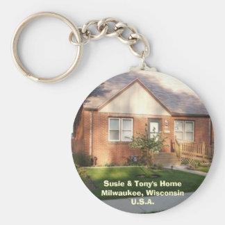 Susie & het Huis van Tony Basic Ronde Button Sleutelhanger