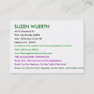 c4b2248919a SUZEN WUERTH, Dr. van 4973 Oever, Polk Stad, Flor… Visitekaartje