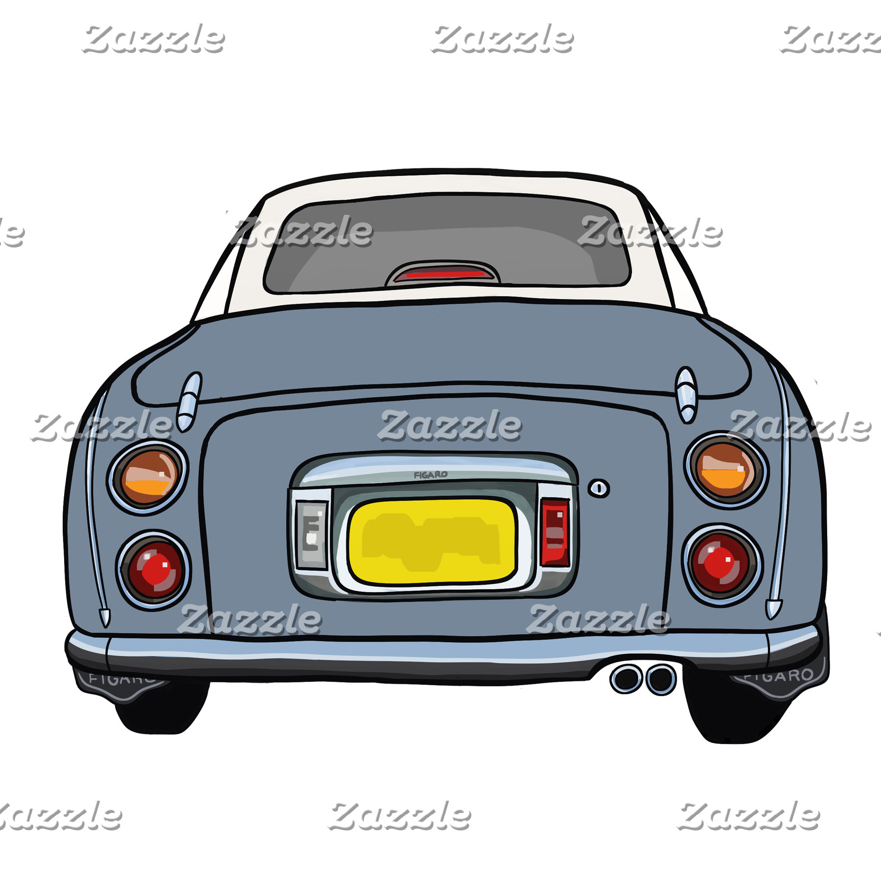 Lapis Grey Figaro Car