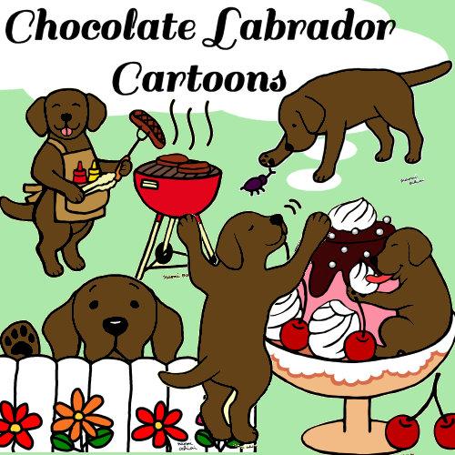 Chocolate Labrador Cartoons