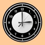 Black and White Wall Clocks