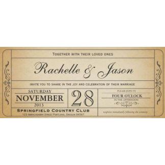 Vintage Wedding Ticket Collection I