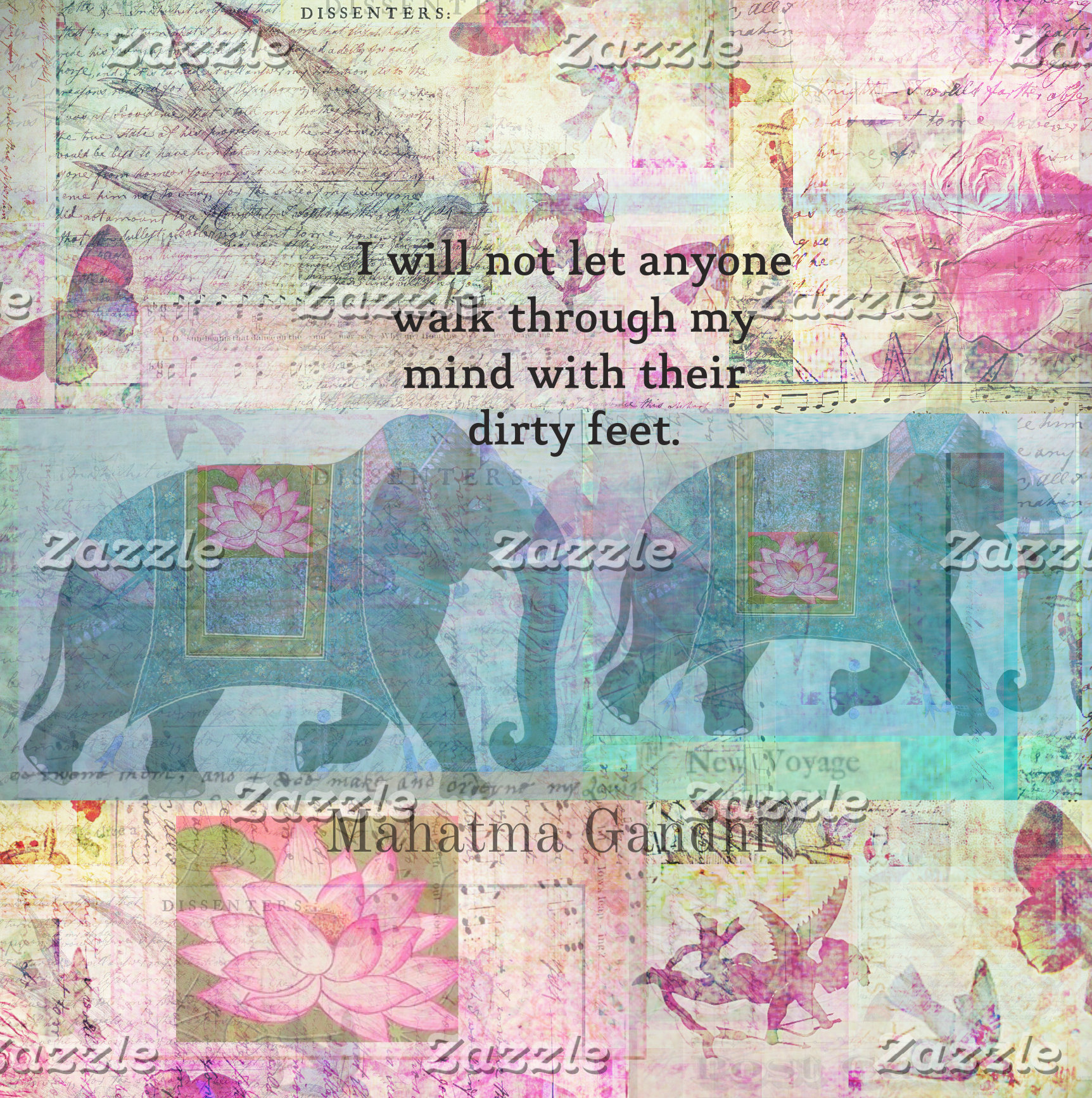 I will not let anyone walk through my mind