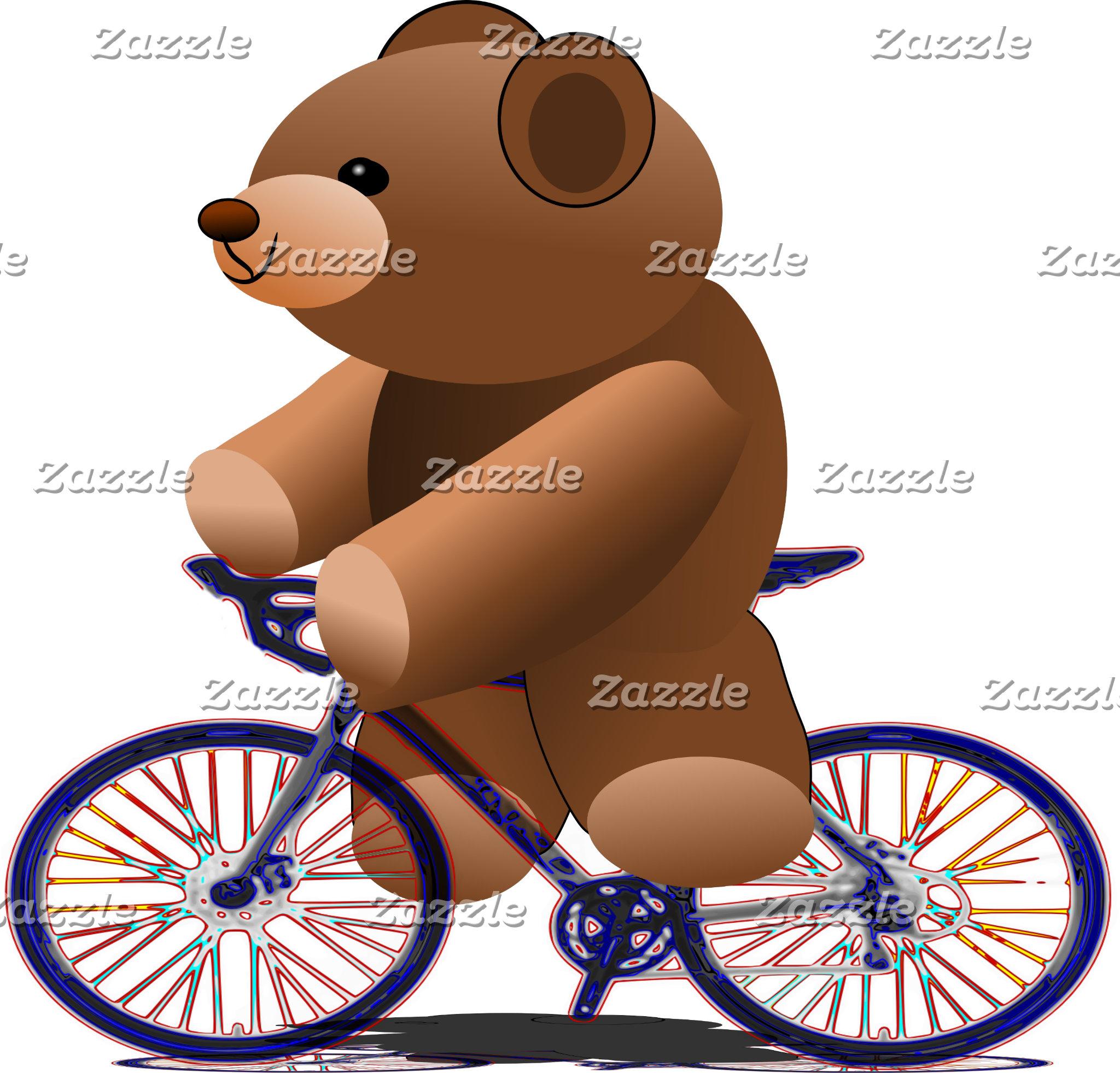 Teddy Bear Cyclist