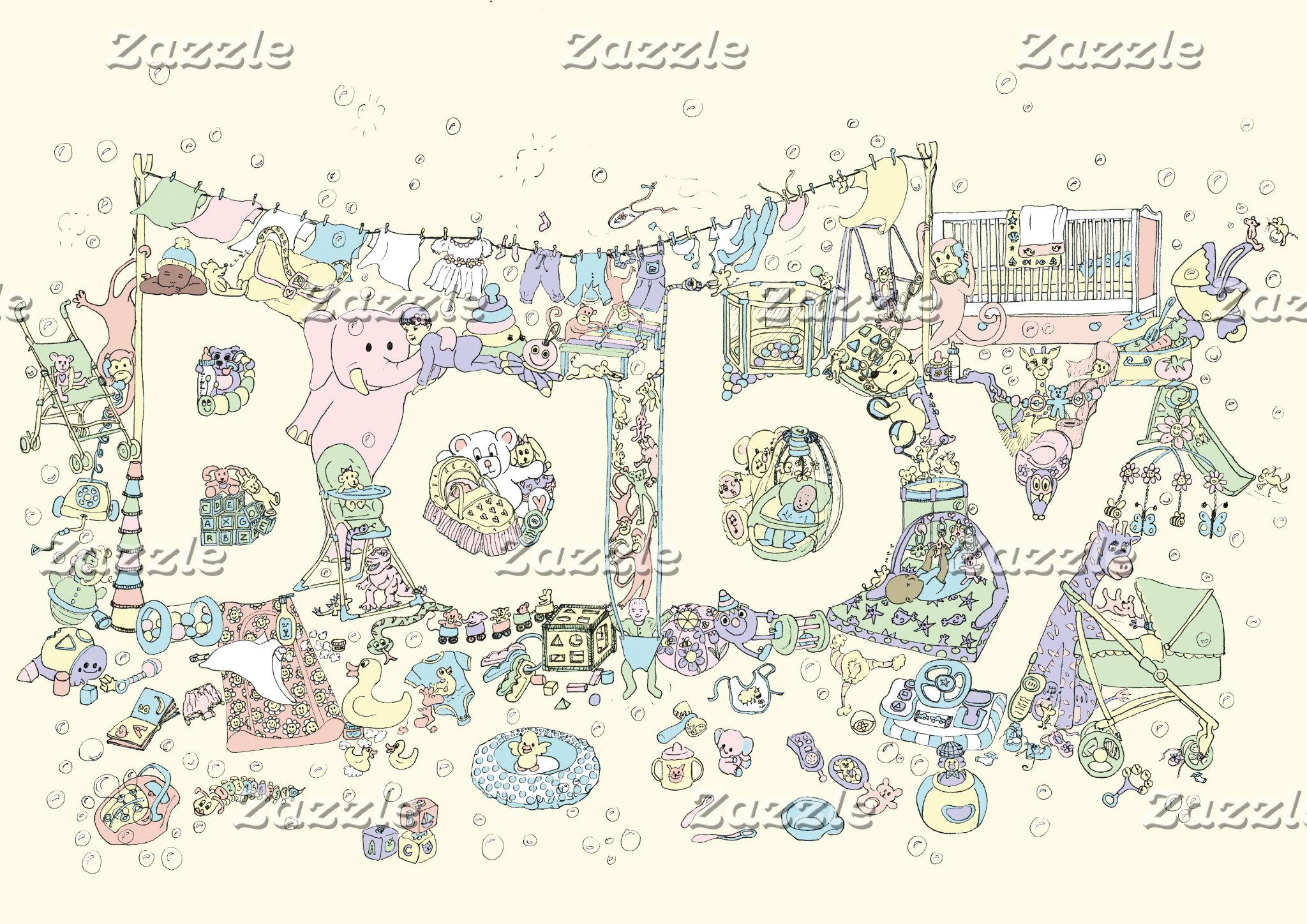 Baby Funny Art Design