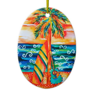 Surfing Ornaments