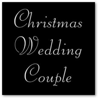 Christmas Wedding Couple