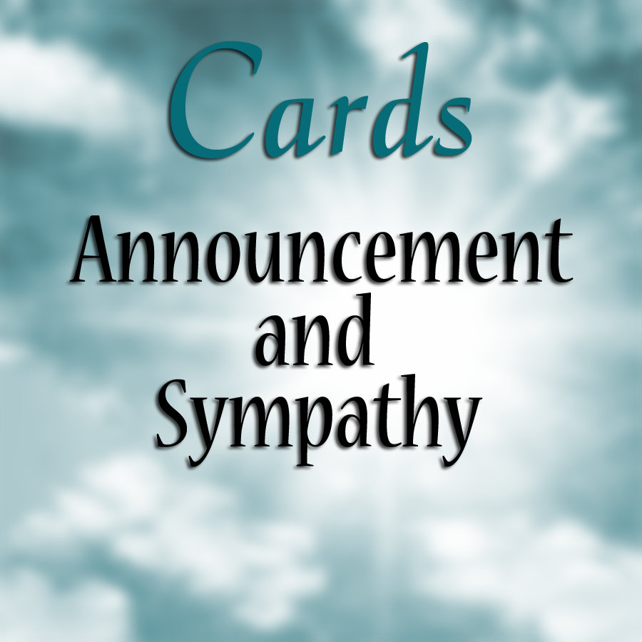:: CARDS - Announcement and Sympathy
