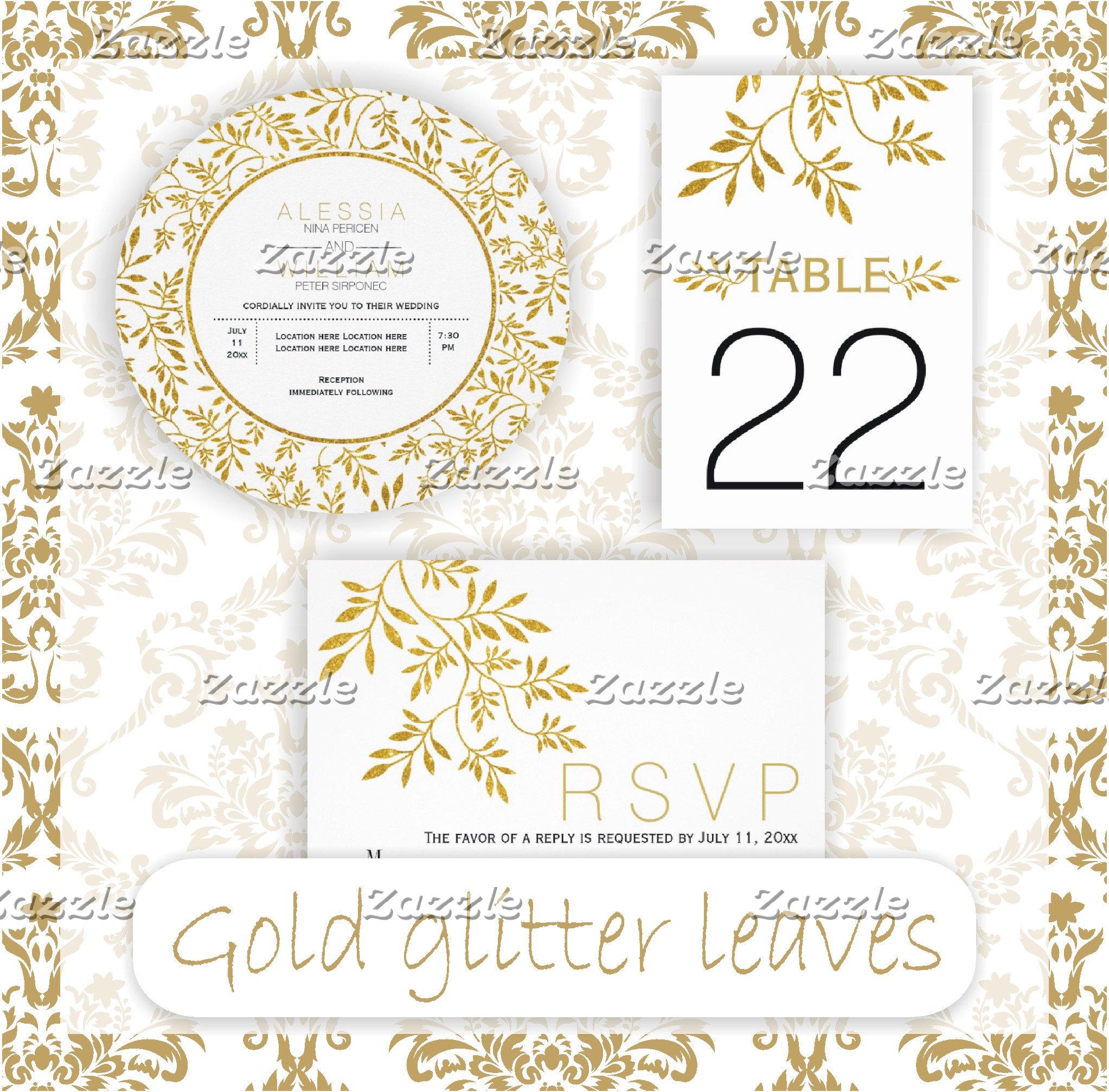 Gold foil or glitter