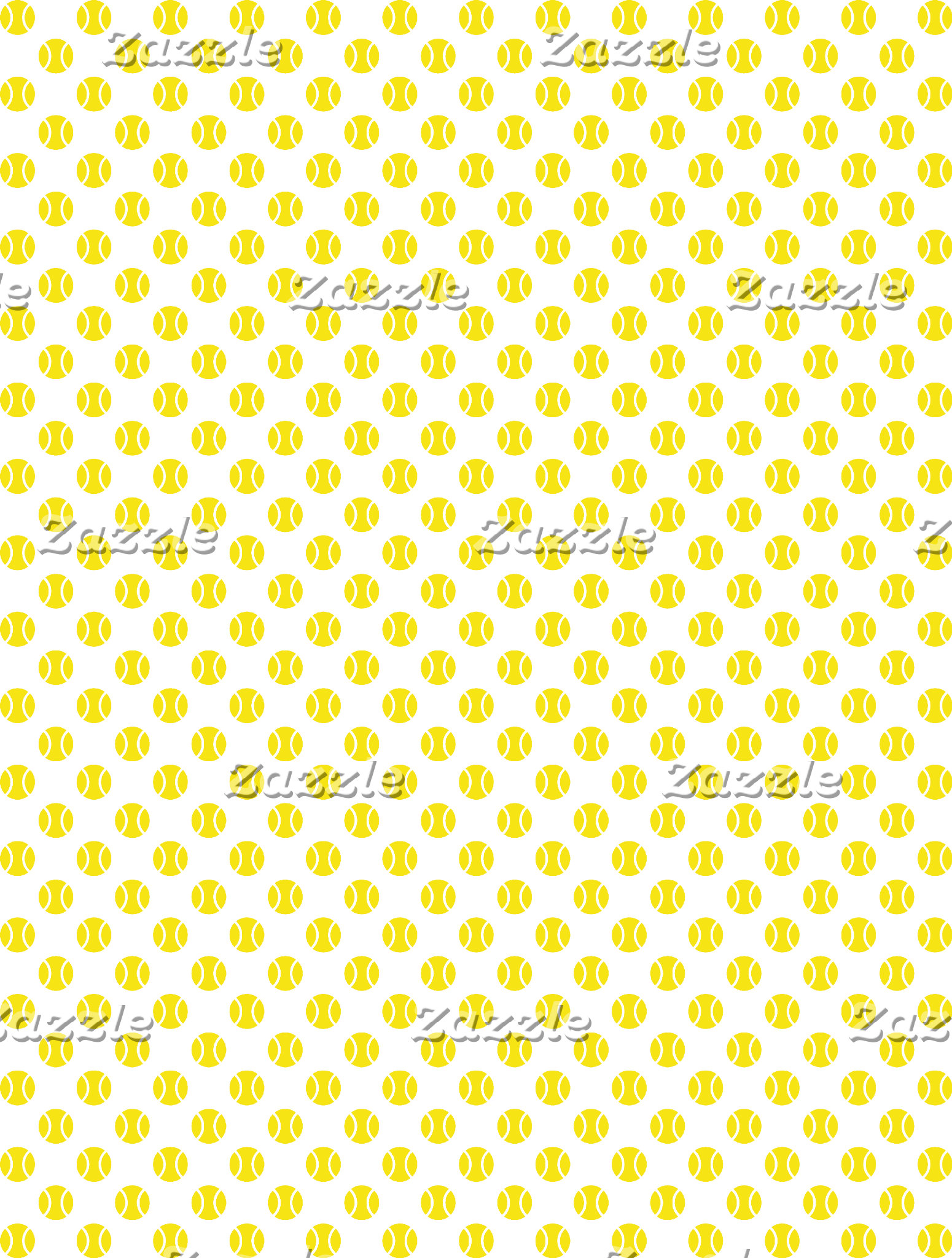 Tennis ball pattern