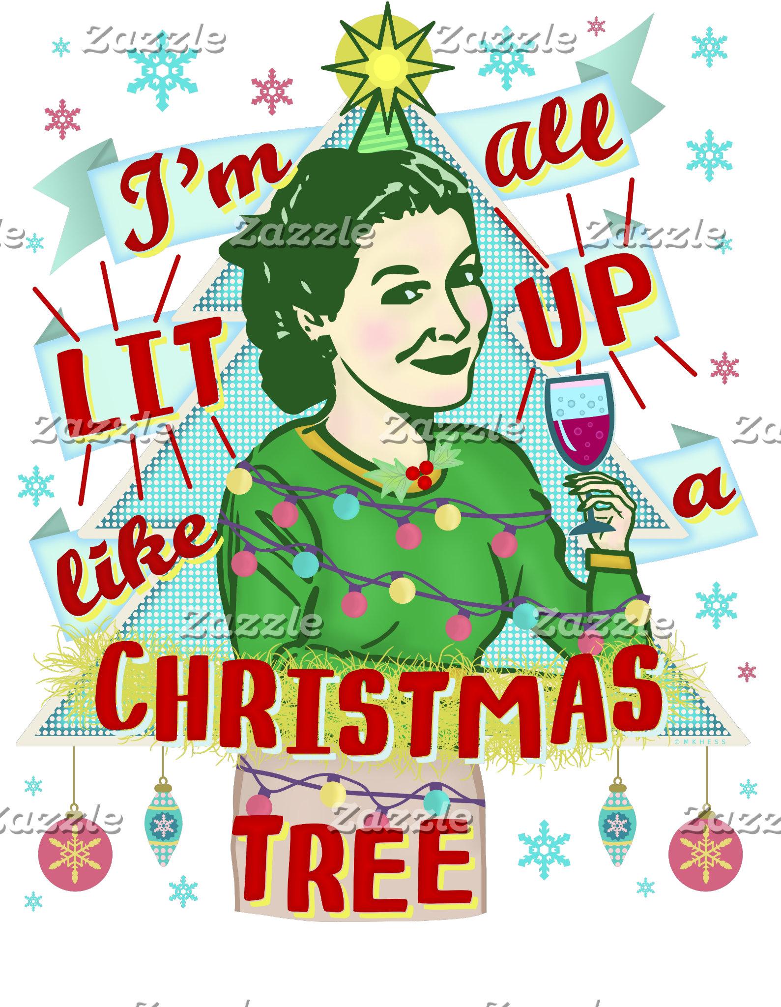 Funny Lit Up Like a Christmas Tree