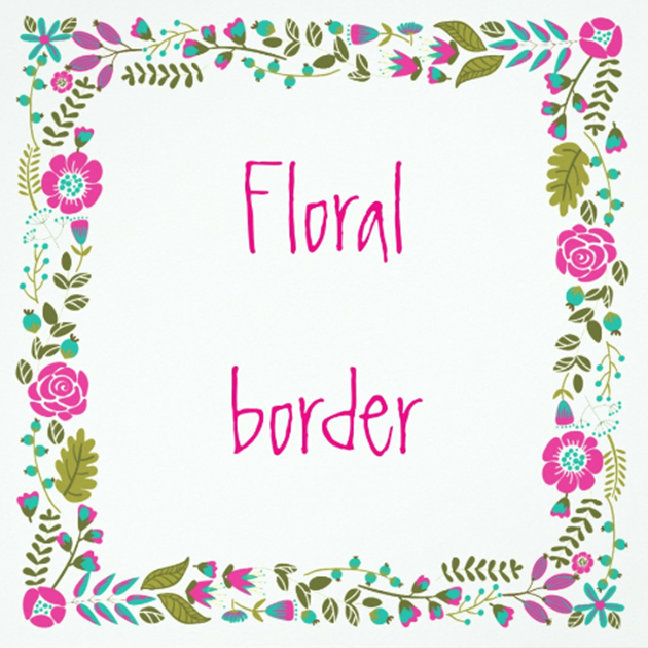 Floral border birthday