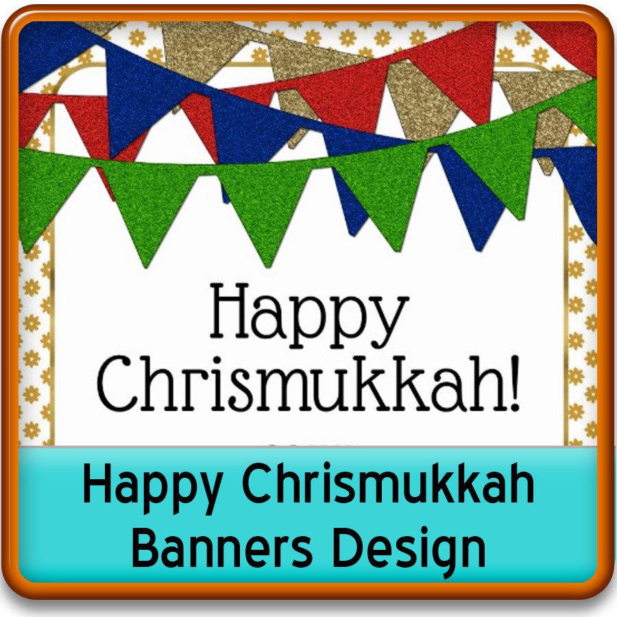 Happy Chrismukkah Banners Design