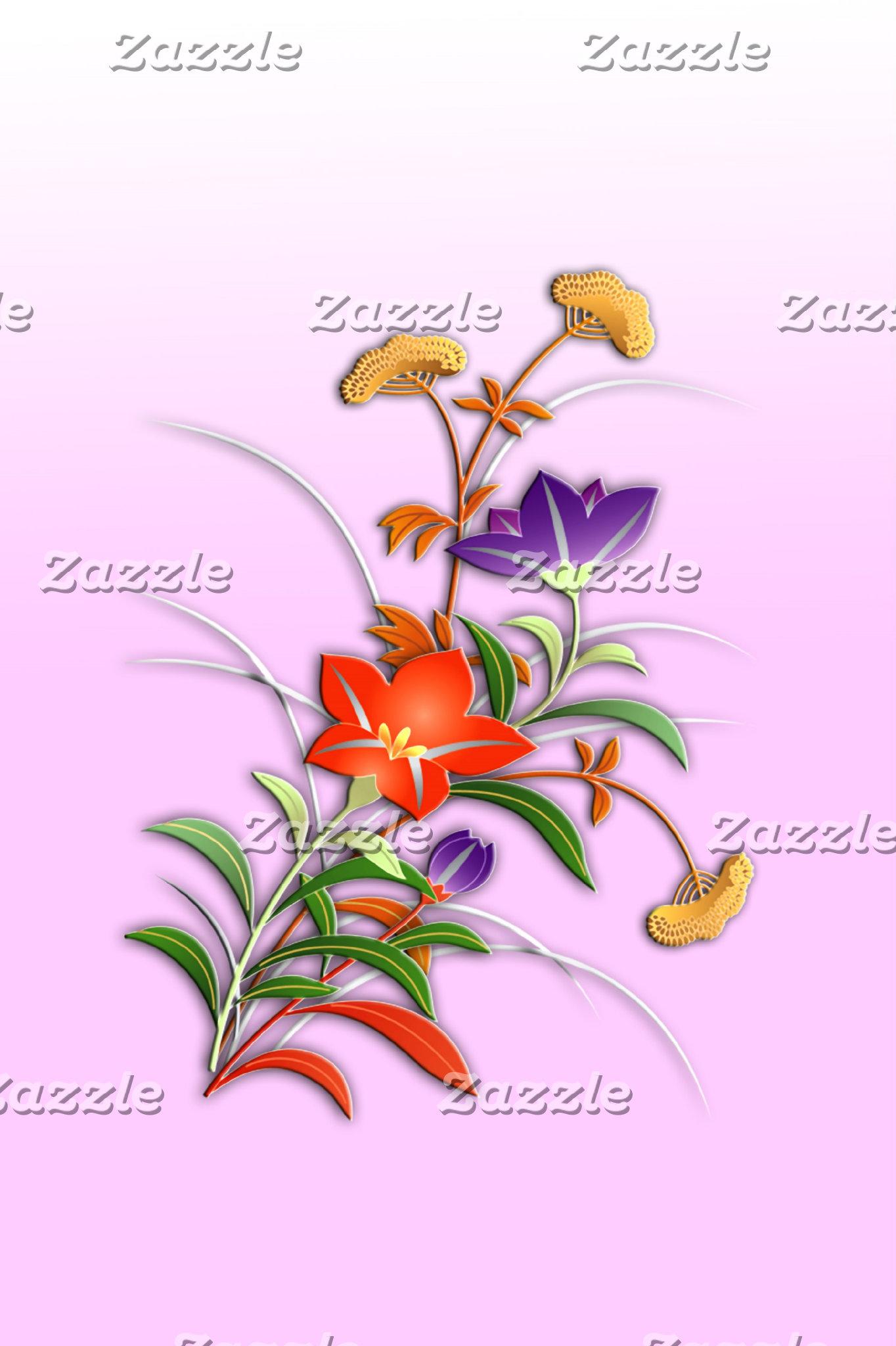 Autumn flowers (pink)
