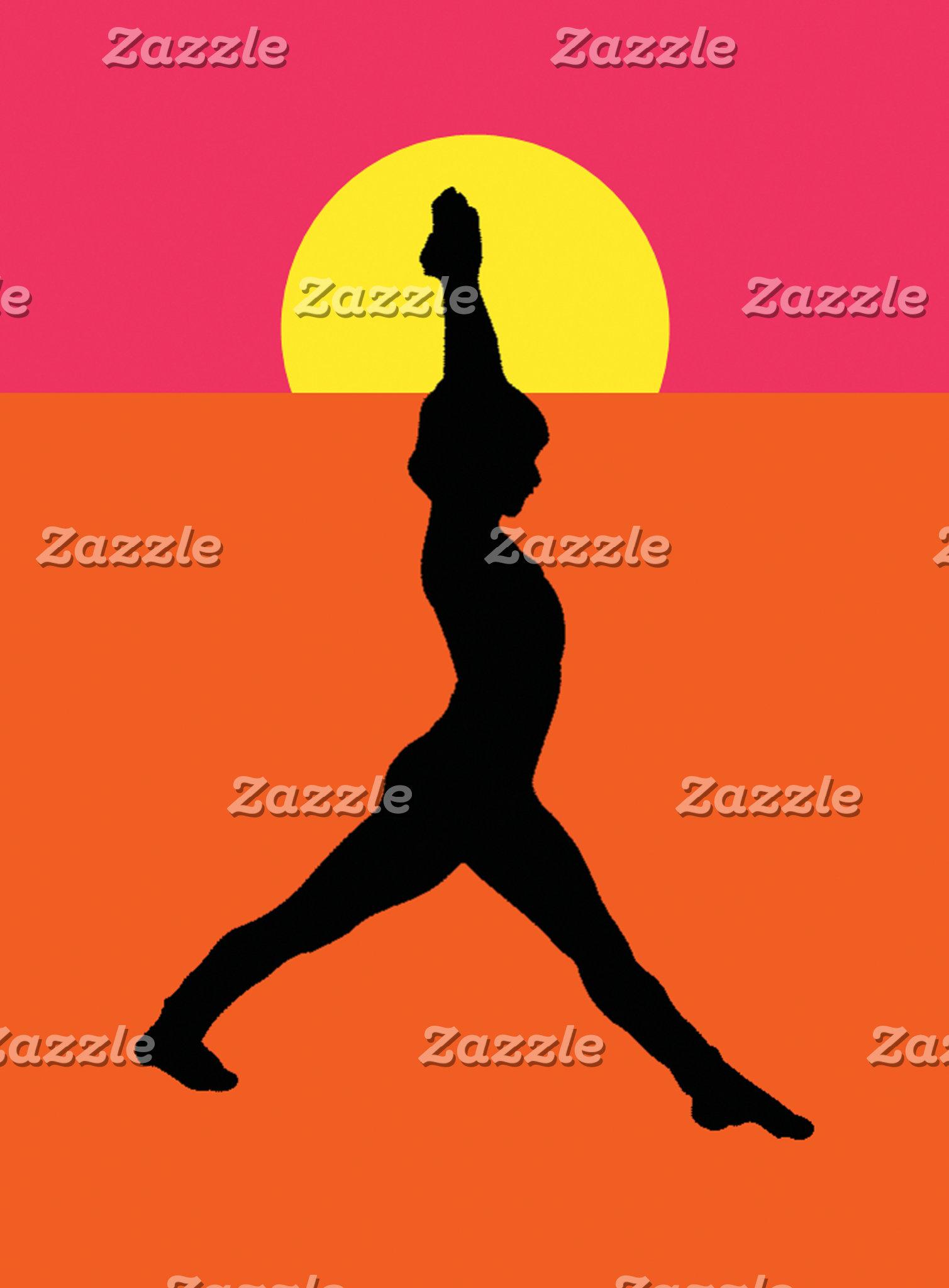 Abstract Yoga Pose T-Shirt Gift Card