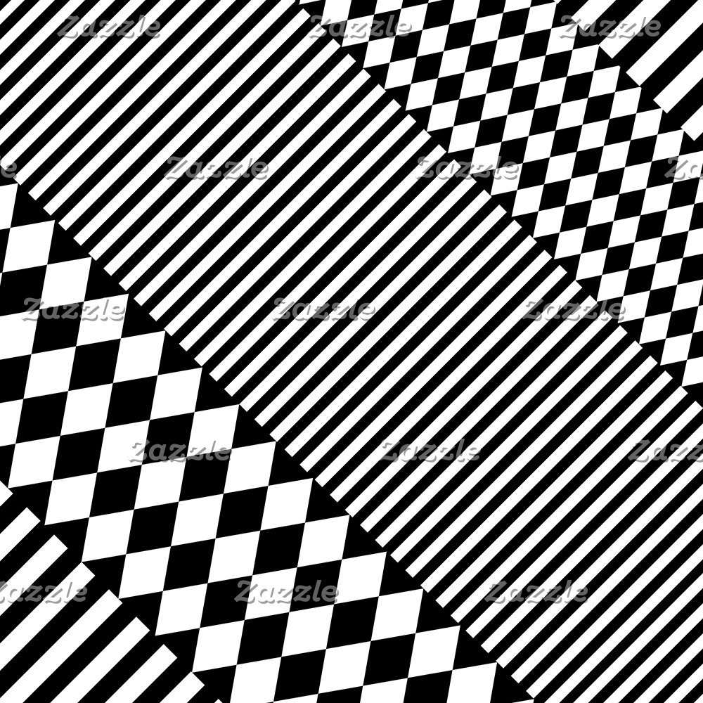 Stylish Black White Geometric Patterns Monochrome