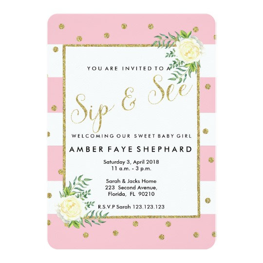 Baby - Shower, Sip and See, Announcement
