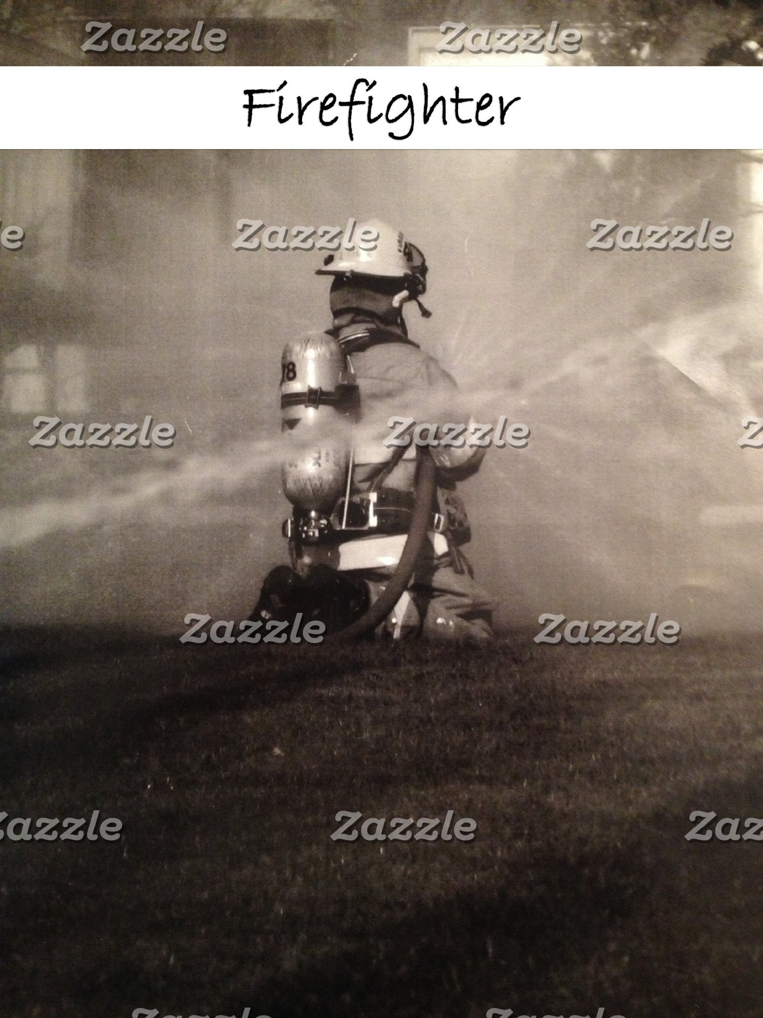 Dedicated Firefighter At Work