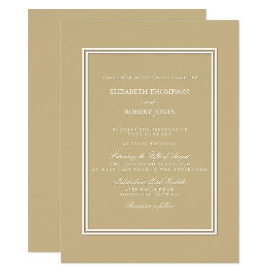 Classic Wedding Schemes