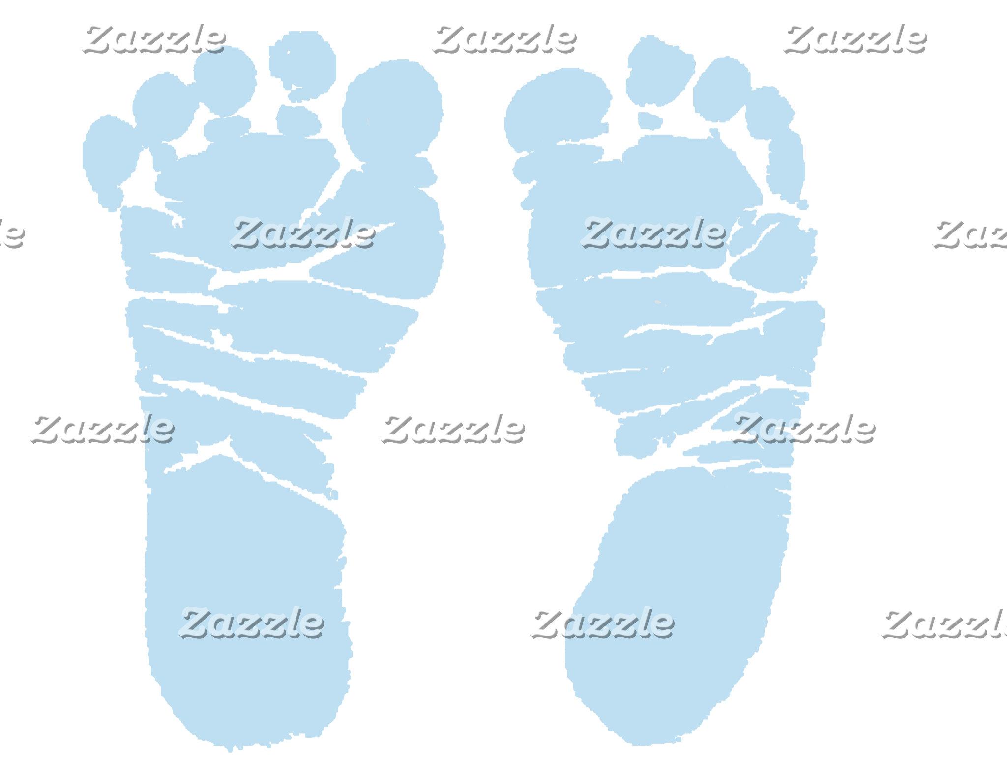 Footprints Blue