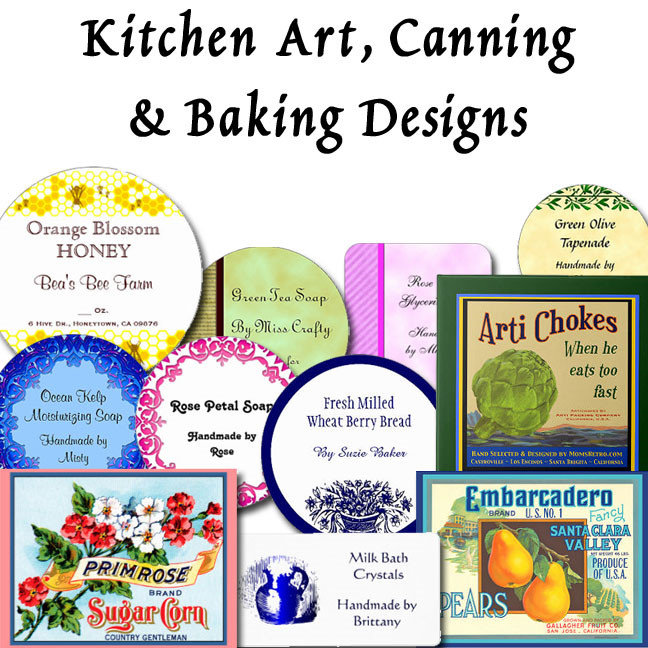 Kitchen Art, Canning & Soap Labels