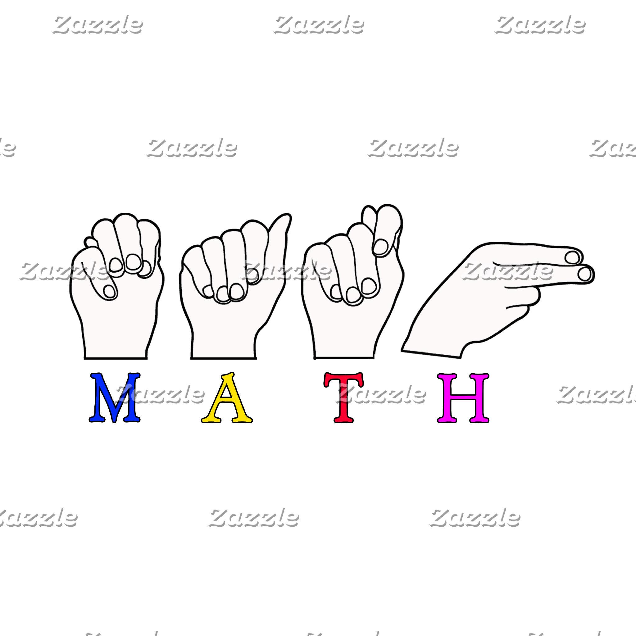 MATH FINGERSPELLED ASL SIGN