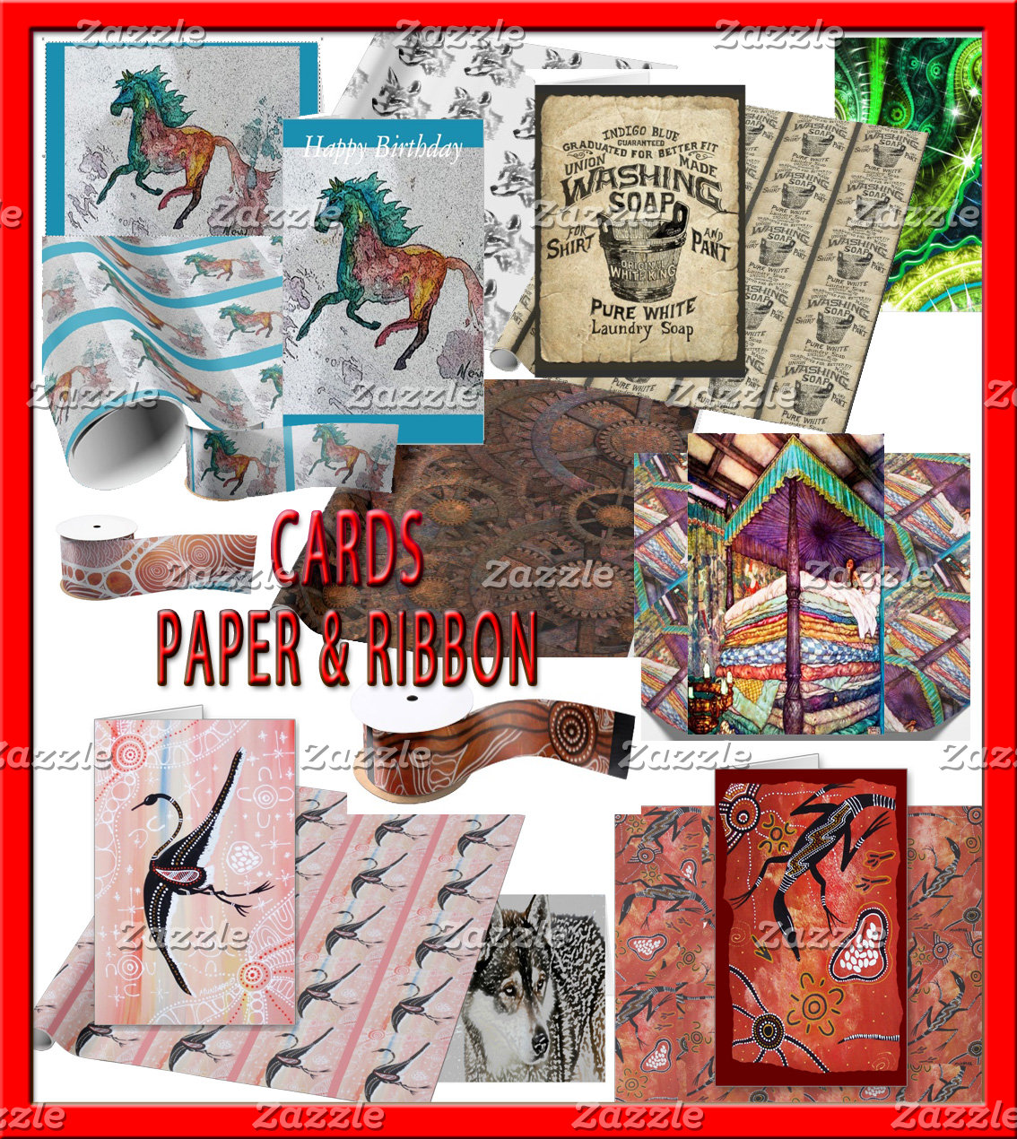 CARDS PAPER RIBBON