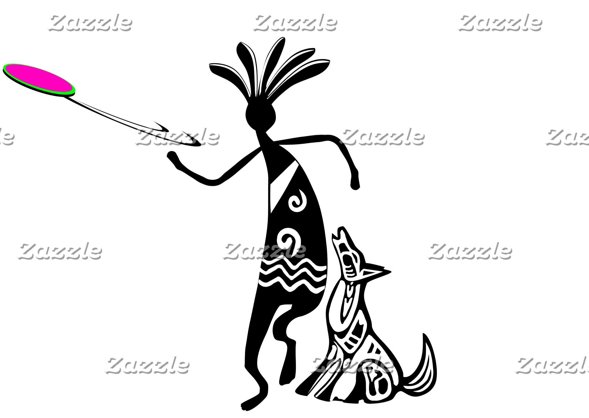 Kokopelli and Dog