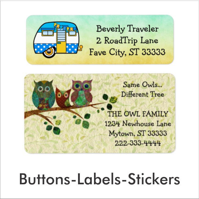 Buttons, Labels & Stickers