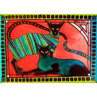 Cat Art - The Legend Of The Siamese