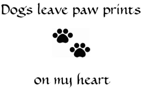 Paw Prints on my Heart