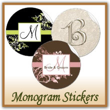 Monogram Wedding Stickers