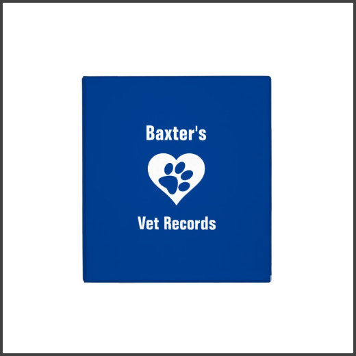Personalized Pet Vet Records
