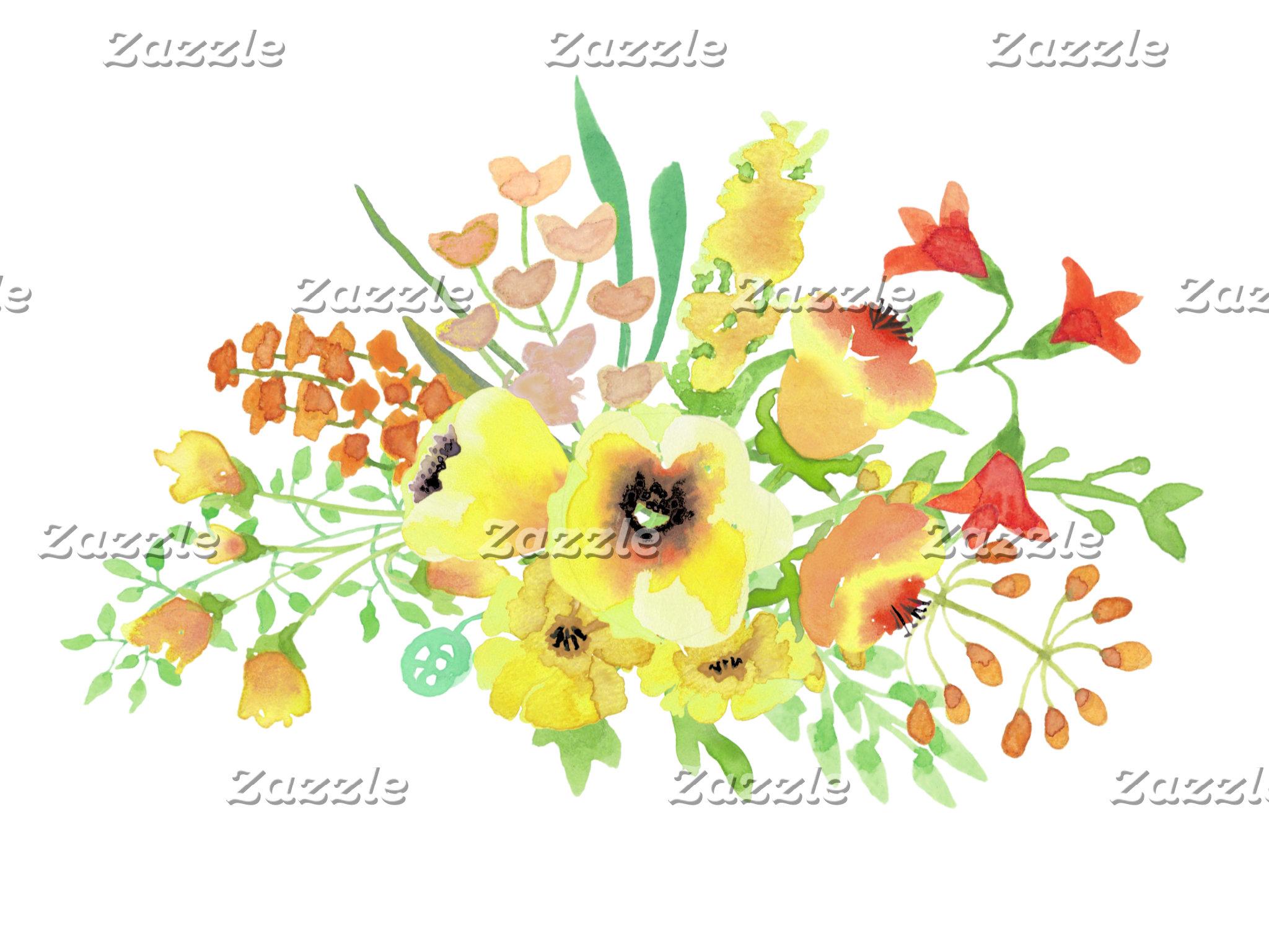 Spring Floral Bouquet Wedding Suite