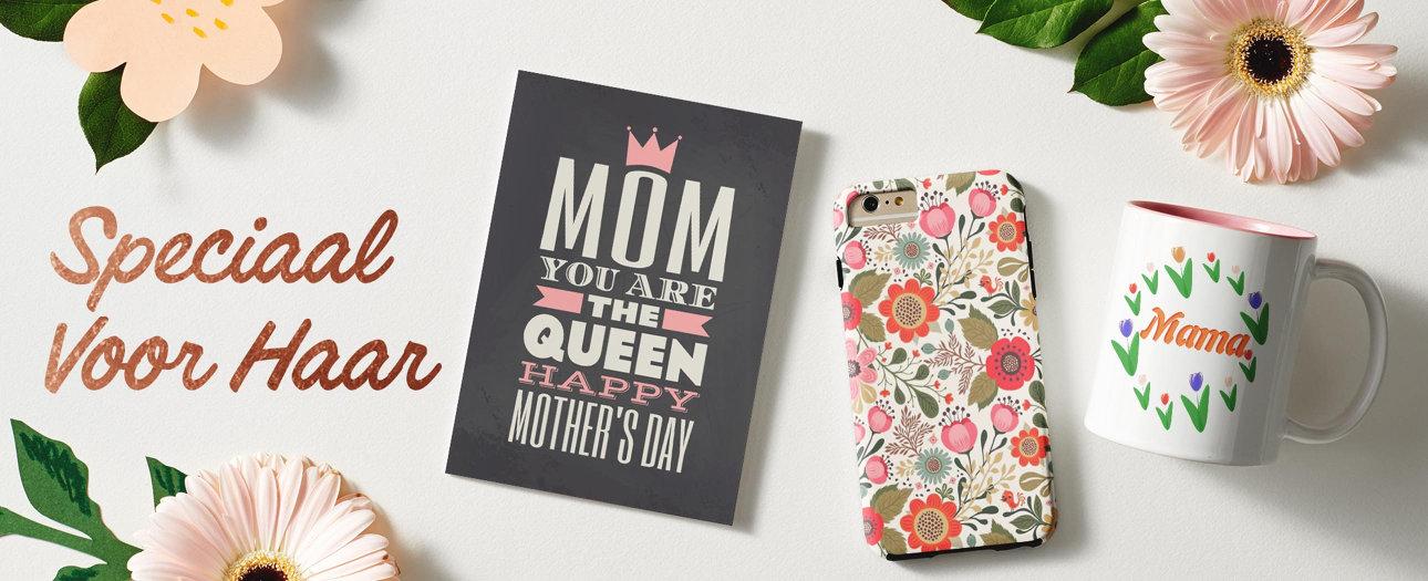 De leukste moederdag cadeaus vind je bij Zazzle. Personaliseer met eigen tekst en foto's.