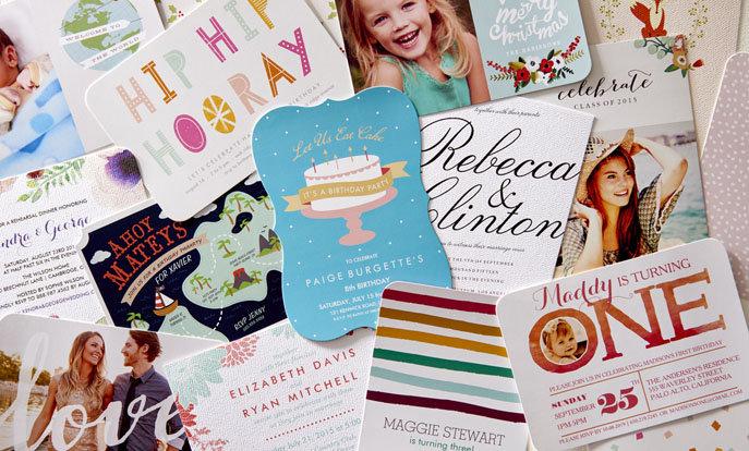 Blader door onze enorme selectie kaarten en uitnodingen en personaliseer met eigen tekst en foto's.