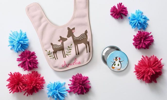 Maak je eigen speciale cadeau voor de kinderen in je familie en personaliseer met kleur, stijl of design.