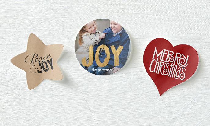 Kerst stickers met foto en tekst