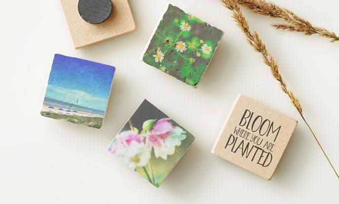 Maak je eigen magneten of kies een mooi design en personaliseer met kleur, design of stijl.